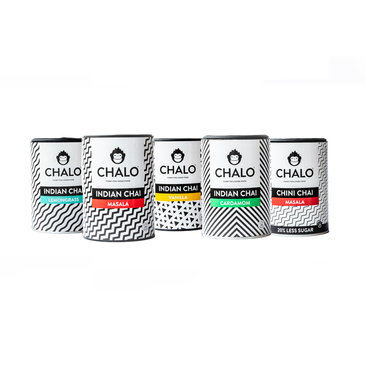 Chai latte assortment - 5 flavours of chalo chai
