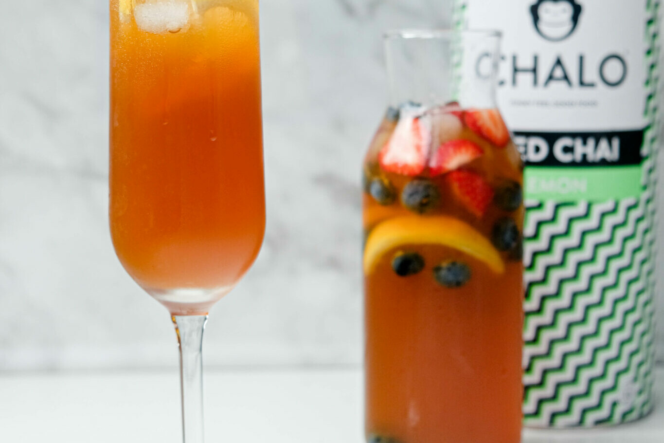 The Chalo Lemon Iced Chai Cocktail