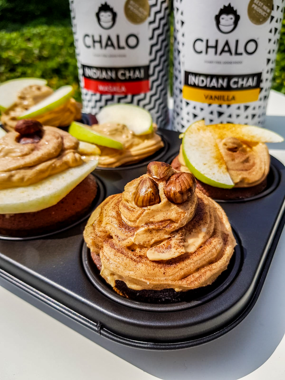 Chalo Chai Apple cupcake