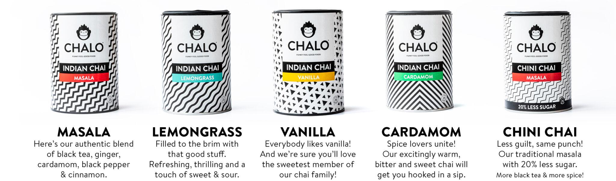 2020 Chalo chai latte flavour overview